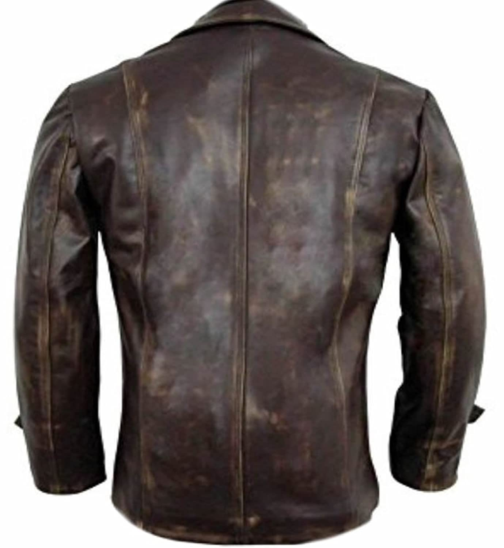 Mens Vintage Fashion Real Distressed Leather Jacket