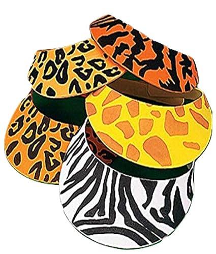 5c1a9a503010d Amazon.com  12 Foam Safari Animal Print Sun Visors  Sports   Outdoors