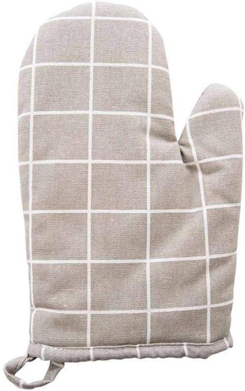 guanto da forno in cotone resistente al calore guanti isolanti antiscivolo ispessimento bianco guanti da cucina e forno a microonde HONGIRT