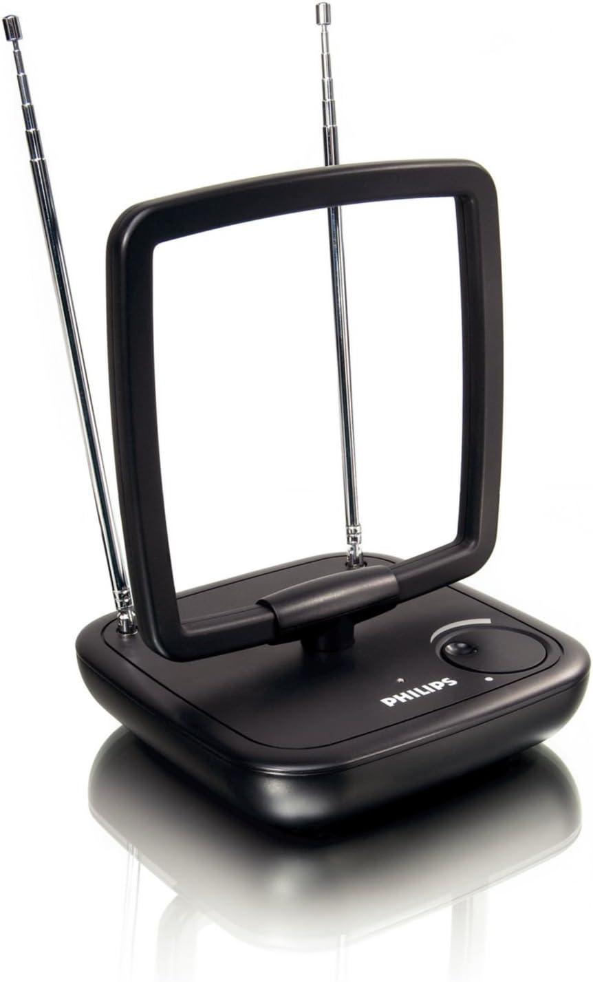 Philips SDV5120/12 - Antena de TV (Obstrucción 75 Ohmio), negro