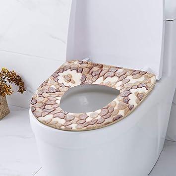 Washable Toilet Seat Cover Bathroom Zipped Closestool Mat Pad Cushion Household