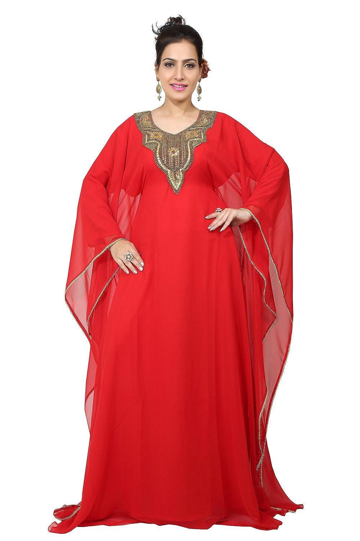 Bedi'S Uae Style Women'S Farasha Maxi Arabisches Islamisches Kaftan Langes Kleid - Eine Grösse (Kaf-2798)