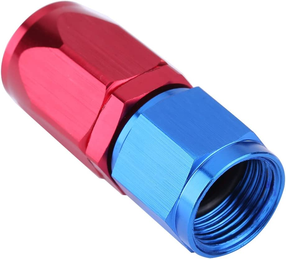 couleur bleu et rouge 0/° conduite de carburant AN8 Adaptateur de refroidisseur dhuile de raccord de bout de tuyau Embout de durite anodis/é