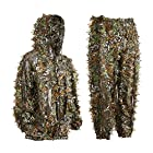 Eamber Ghillie Suit 3D Leaf Realtree Camo Camouflage Lightweight Clothing Suits for Jungle