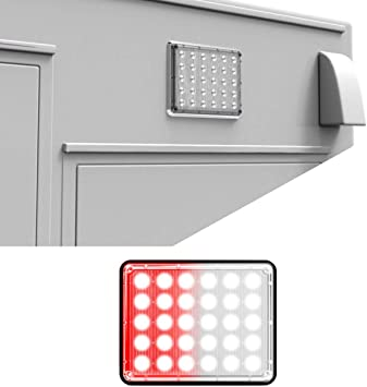 Alpha-Z 7x9 Emergency Vehicle Ambulance LED Surface Mount Light and Fire Truck LED Warning Light Clear//Clear