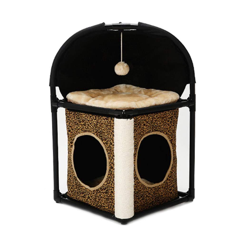 contatore genuino V.JUST Cat Tree House Domestic Delivery Arrampicata Frame Frame Frame Cat Furniture Pet Supplies Gatti per Gatti,Marronee  negozio online