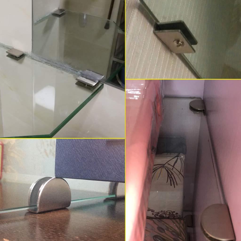 B Blesiya 2 St/ück Glashalter Glasklemme Glashalterungen Glas Klemmhalter zur Befestigung 6-8 mm