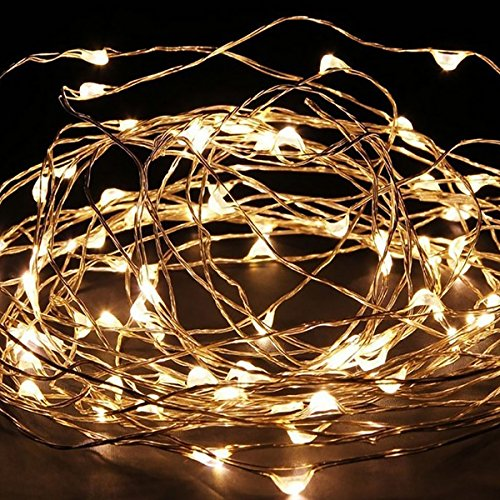 Anleolife Copper Wire Fairy Lights Holiday LED Battery String Lights For Halloween costume X'mas Home Indoor Outdoor Decoration (4m