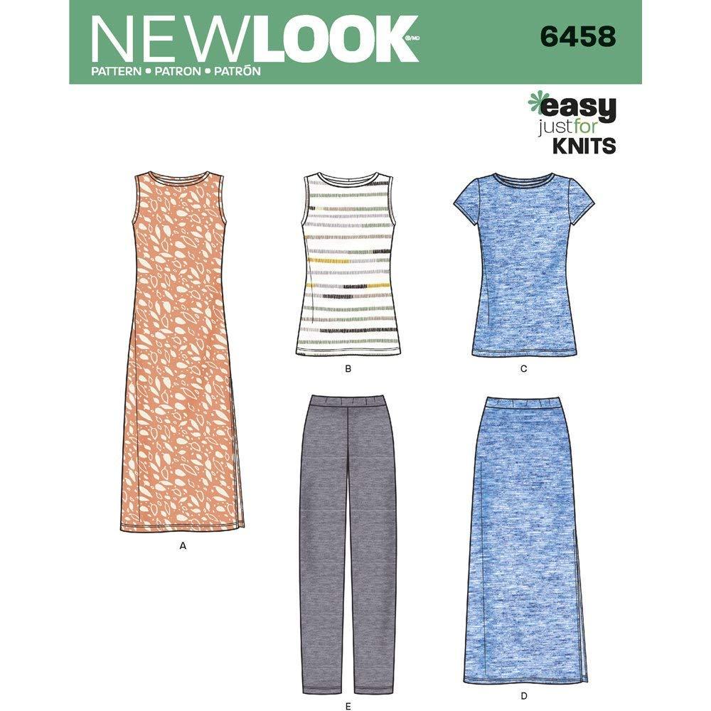 patrón de Costura Look 6458 un Separa de Punto Patrones de Costura ...