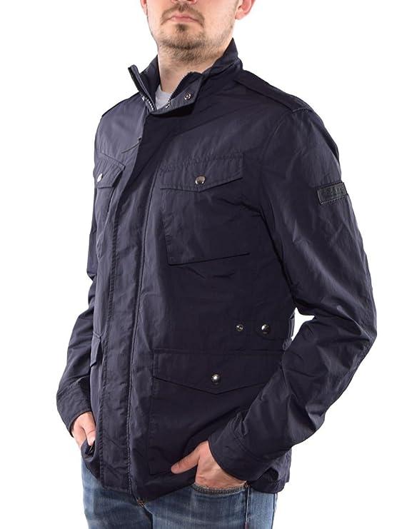 Woolrich chaqueta impermeable para hombre azul azul: Amazon ...