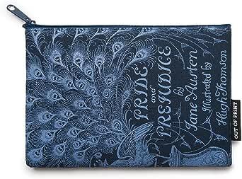 Bolsa com zíper com tema literário e livro para amantes de livros, leitores e bibliófilos