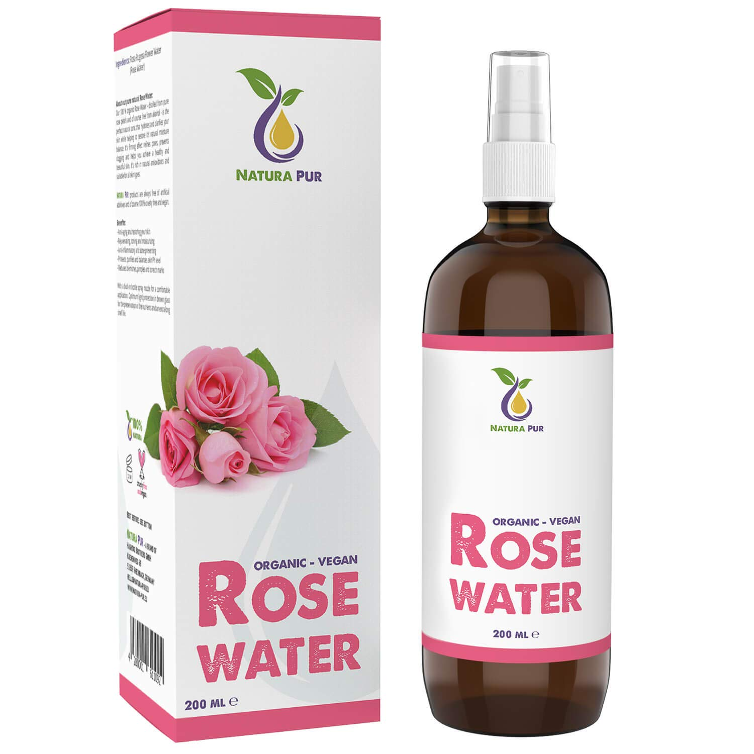 Acqua di Rose Biologica 200ml