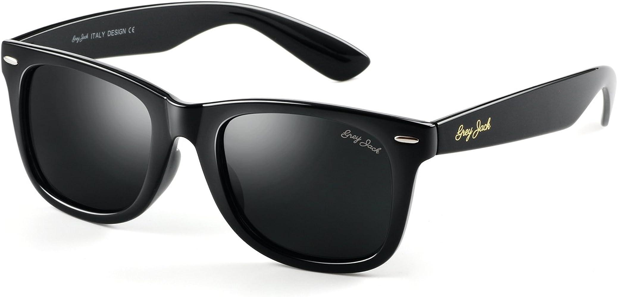 Classic Polarized Horn Rimmed Sunglasses for Men Women