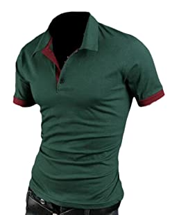 Gocgt Mens Polo Shirts Casual Slim Fit Basic Sport Polo T-Shirts Green L