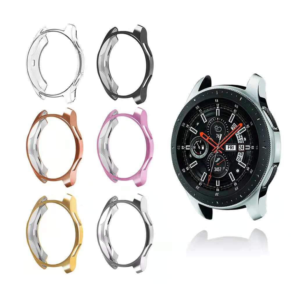 Compatible with Samsung Galaxy Watch 46mm case, Hagibis Soft TPU Slim Plated Case Anti-Shock Cover All-Around Protective Bumper Shell for Galaxy Watch 46mm SM-R800 Smartwatch by Hagibis