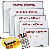 Pizarra magnética, limpieza en seco, para colgar, ideal para colegios u oficinas, color blanco, 60CM X 90CM