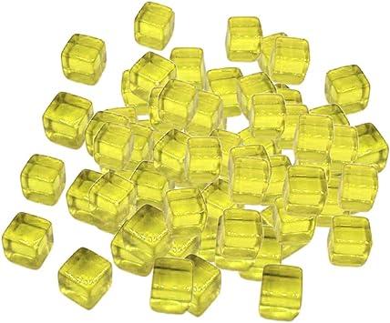 Sharplace 100pcs 10mm Coloridos Dados Juegos de Mesa Cubo para Juguetes de Fiesta KTV - Amarillo: Amazon.es: Juguetes y juegos
