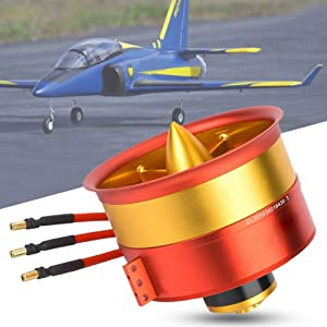 Ducted Motor, Ducted Fan, RC Airplane Motor, 120mm 12S 12-Blades Duct Fan Motor with 750KV 5060 Motor All Set for RC Airplane Upgrade