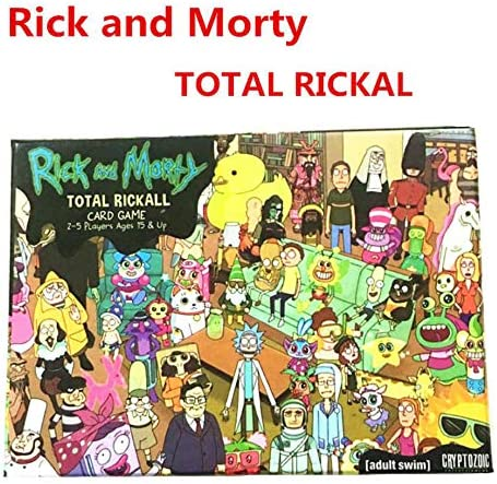 Rick y Morty Rick y MortyTotal Rickall colaboración Tarjeta Mesa Anime Party Adulto Partido Secreto Juego de Mesa Solitario: Amazon.es: Hogar