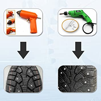 Gugutogo - 100 piezas de 12 mm para neumáticos de coche antideslizante con tornillo para rueda de nieve, clavos para neumáticos: Amazon.es: Coche y moto