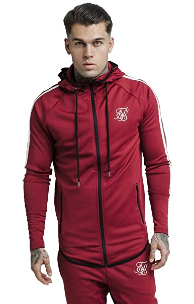 Siksilk Tech Athlete Zip Through Sudadera Hombre: Amazon.es: Ropa y accesorios