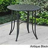 International Caravan Mandalay Black Iron Bistro Table Antique Black Review