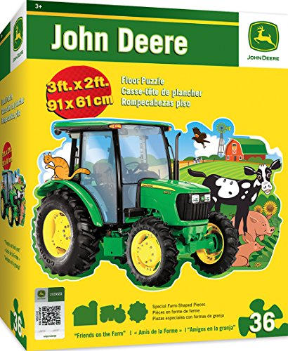 MasterPieces John Deere Friends on the Farm - 36 Piece Kids Shaped Floor Puzzle (Johnny Tractor Puzzle)