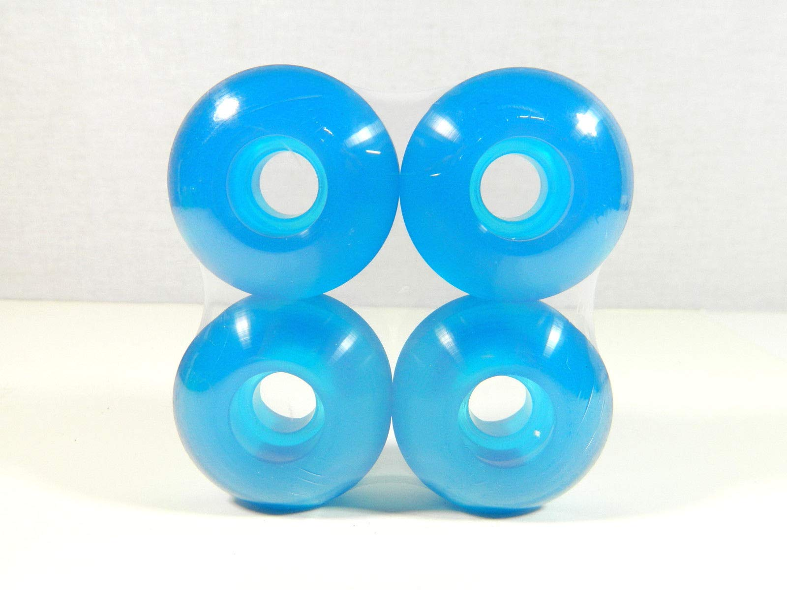 Clear Blue Blank 52Mm X 31Mm Pro Skateboard Wheels Multi Clear Color Sealed