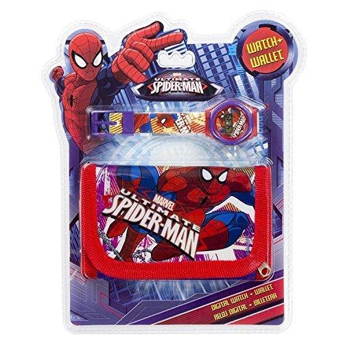 Set reloj digital billetera Spiderman Marvel: Amazon.es: Juguetes y juegos