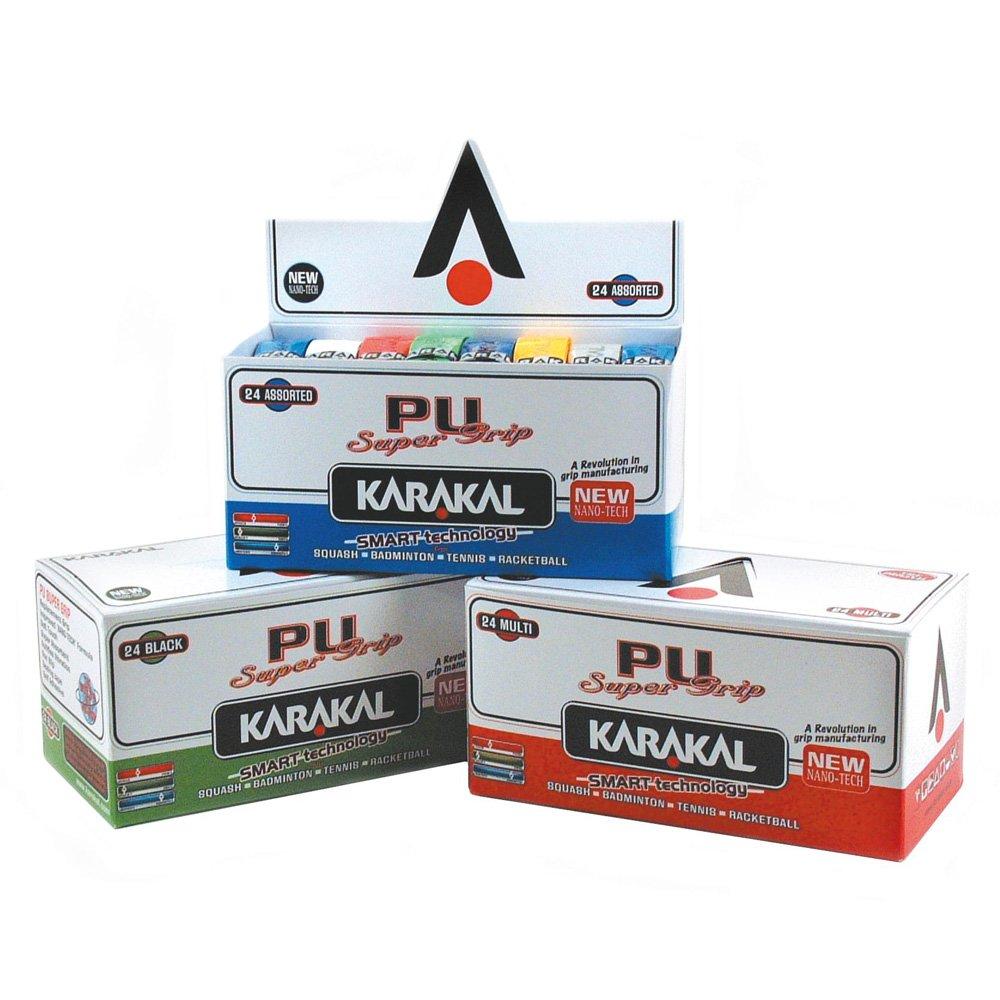 Karakal Racquet Sports Racket Handle Replacement Pu Super Grips (box Of 24) Assorted by Karakal