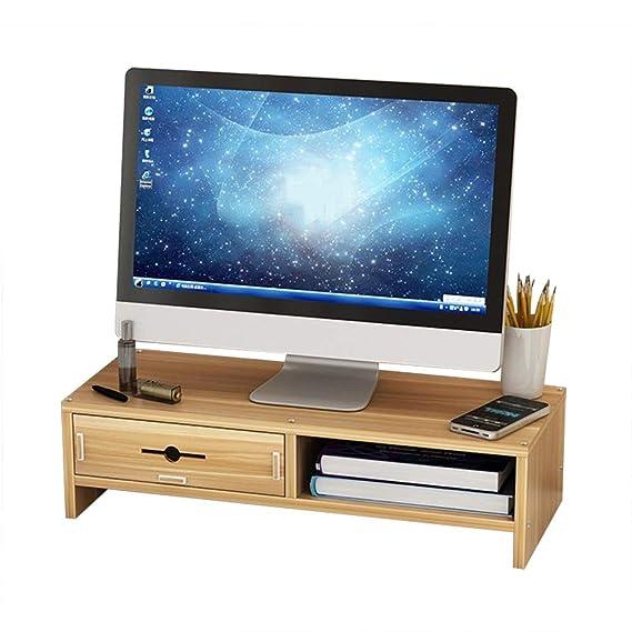 Soporte De Monitor con Cajón De Almacenamiento  Organizador De Escritorio con Almacenamiento Para Teclado Oficina Computadora Escritorio Portátil Soporte Contenedor De Escritorio  Fácil Instalación A+: Amazon.es: Hogar