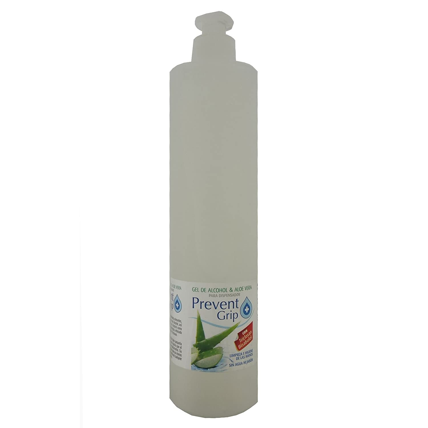 PREVENT GRIP - DISPENSADOR AUTOMÁTICO DE JABÓN LÍQUIDO de 700ml.+ GRATIS 2 envases de gel liquido de 100ml + 2 botellas de gel liquido de 500ml + 4 baterias ...
