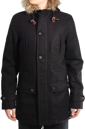 Bellfield Stretford Wool Mix Hooded Parka Jacket Black - XL (42-44in)