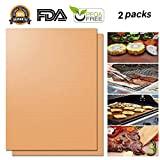 #1: Hirundo Non-stick BBQ Baking Mats, (Golden, 2 packs)