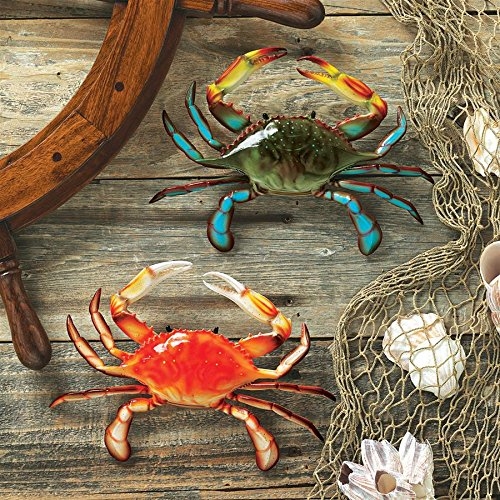 Design Toscano Tropical Crabs Wall Sculpture (Set of 2)