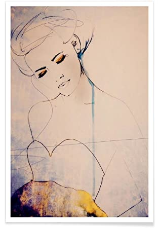 Juniqe affiche 20x30cm illustrations de mode design abstractions aside format