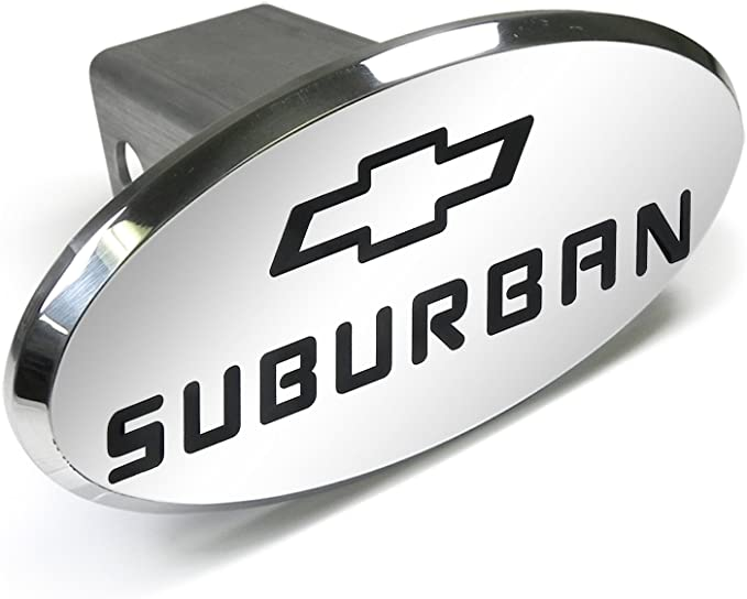 Chevrolet Suburban Engraved Oval Aluminum Tow Hitch Cover Elite