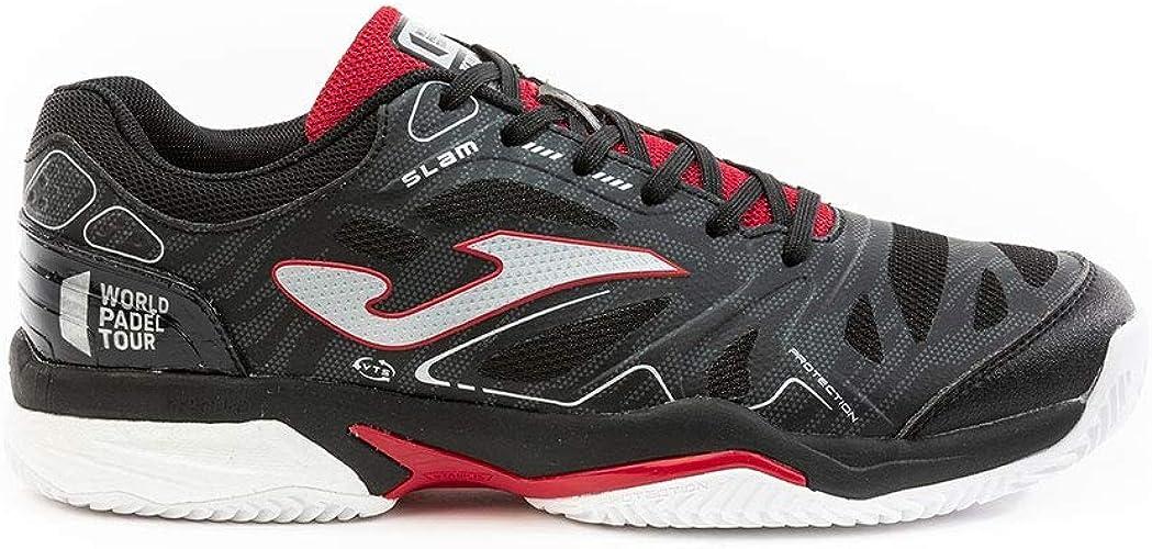 Joma T.Slam Men 2001 Negro-Rojo Clay Running Shoe para Hombre