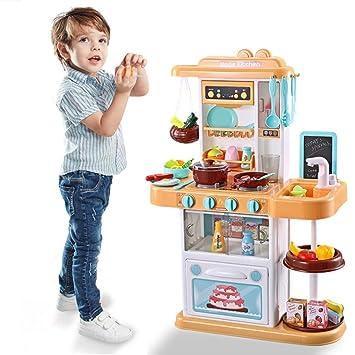Amazon.com: Hellofishly Set de cocina para niños, simula ...