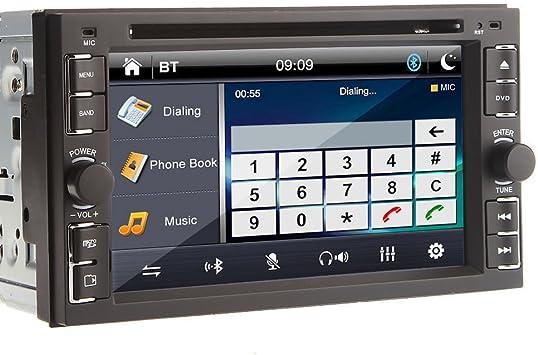 6,2 pulgadas de doble DIN gps navegaci¨®n opcional para coche universal DVD En Dash V¨ªdeo Audio Auto Radio Car Stereo Bluetooth PC iPod TV + Control Remoto: Amazon.es: Electrónica