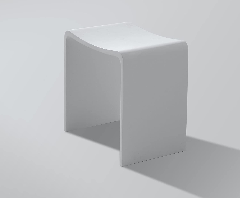 Mineralguss - Duschhocker Model-U: Amazon.de: Küche & Haushalt | {Duschhocker acryl 67}