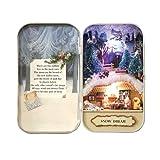 DIY Dollhouse Miniature Kit Handmade Xmas/Birthday Idea Gift Box Theatre (Snow Dream)