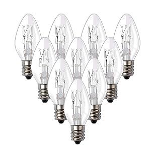 15WE1215Watt BulbsforScentsy-PluginNight Wax Warmer DiffuserC7ReplacementBulb15W120Volt(10Bulbs)