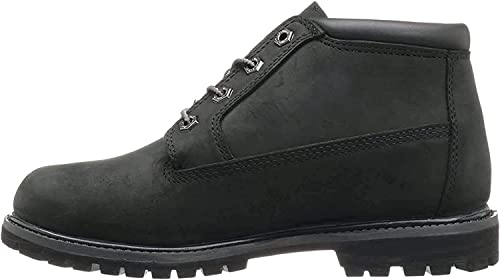 Timberland Damen Nellie Chukka Boot Black WaterbuckBlack Charred Suede Collar
