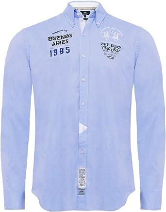 La Martina - Camisa casual - para hombre azul S: Amazon.es: Ropa y accesorios