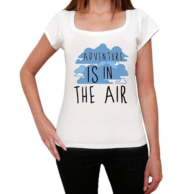 9d33a400 Amazon.com: Adventure in the air, tshirt women, tshirt with words women,  gift tshirt: Clothing