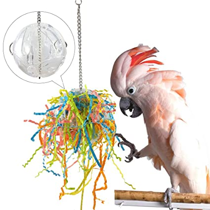 Cockatoo Foraging Toys,Caique Parrot Decompression Toys,Parrot Feeder,Chew  Hanging Cage,Shredder Toy for Parakeet Cockatiel Chew Fun Cage Pet Bird