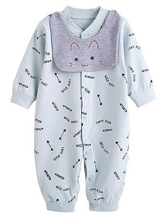 XIUBEIXING - Infantil Bebé Monos Ropa Interior de Algodón para Recién Nacido para Primavera Otoño con