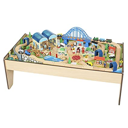 Amazon Com Imaginarium All In One Wooden Train Table Toys Games  sc 1 st  tagranks.com & Wonderful Carousel Train Table Set Gallery - Best Image Engine ...