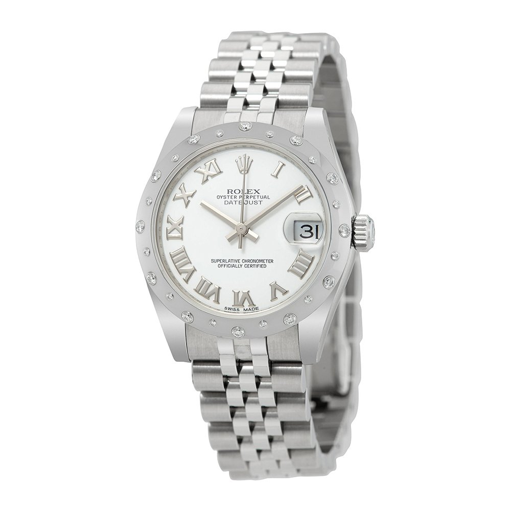 Rolex Oyster Perpetual Datejust 31 White Dial Stainless Steel Rolex Jubilee Automatic Ladies Watch 178344WRJ